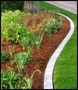 Example image of a custom concrete border