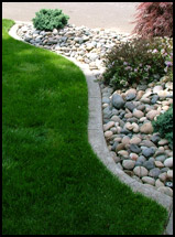 Example image of a custom concrete curb.